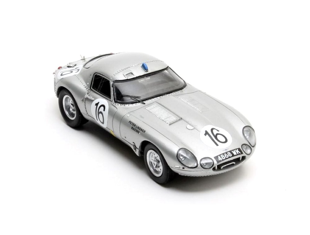 Jaguar E Type Low Drag Coupe Number 16 (Le Mans 1963) Resin Model Car